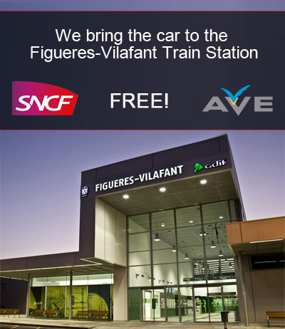 We bring you the car to the Figueres-Vilafant train station